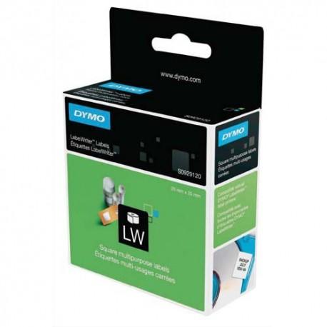 DYMO Rouleau d'étiquettes (750) multiusages 25x25mm pour imprimantes d'étiquettes Label Writer