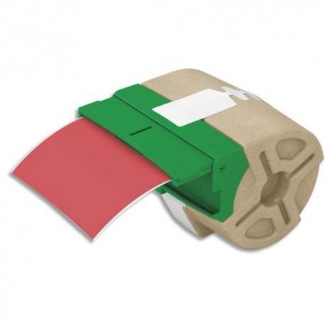 LEITZ 70160025 - Cartouche ruban d'étiquettes continues plastique adhésif permanent 88mmx10m Rouge 70160025