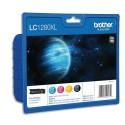 BROTHER LC-1280XL (LC1280XL) Cartouche value pack jet d'encre 4 couleurs de marque brother C1280XLVALBP
