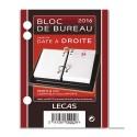 LECAS Bloc éphéméride Date à droite, 1 jour par page + note à Gauche Format 8,5 x 11,5 cm
