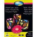CLAIREFONTAINE Pochette de 12 feuilles vitrail 25x32 cm , 6 couleurs assorties