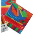 CLAIREFONTAINE Paquet de 100 feuilles de papier pliages Origami 5 couleurs assorties 20x20cm