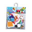 LITO DIFFUSION Sachet de 500 gommettes autocollantes formes et couleurs assorties