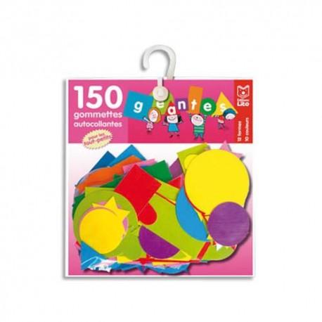 LITO DIFFUSION Sachet de 150 gommettes géantes formes et couleurs assorties