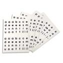 APLI sachet de 5 feuilles de gommettes alphabet