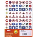 AGIPA Sachet de 4 feuilles format 16x21cm 320 gommettes thème Code de la route