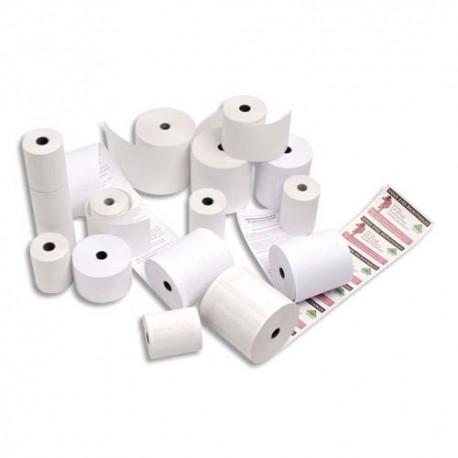 Bobine pour caisse enregistreuse Exacompta papier blanc 60g 76x70x12mm, pour toute caisse enregistreuse