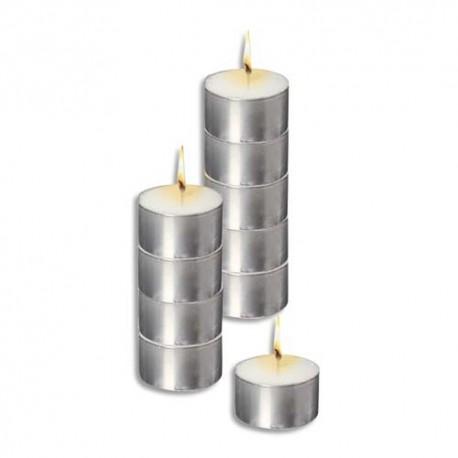 CULTURE CLUB Sachet de 10 bougies chauffe plat blanche longue durée