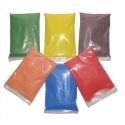 6x500g de sable naturel coloré aux couleurs : Rouge-vert-bleu-jaune-orange-marron + 6 salières vides