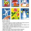 6 cartes de sable à décorer