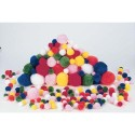 OZ INTERNATIONAL Sachet de 300 pompons couleurs et tailles assortis