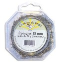 PW INTERNATIONAL Boîte de 50 g épingles 18 mm