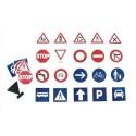 OZ INTERNATIONAL Lot de 40 panneaux magnétiques routiers en mousse 6x6cm 20 modèles