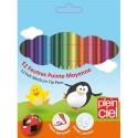 PLEIN CIEL Pochette de 12 feutres de coloriage assortis pointe moyenne