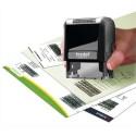 TRODAT Tampon X-Print sécurité récyclé en plastique, rechargeable empreinte L4,7 x H1,8 cm coloris noir