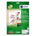 AVERY Boîte de feuilles adhésives effaçables à sec format A4 - Dimensions : L21 x H29,7 cm coloris blanc