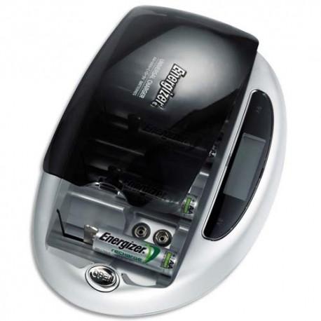 ENERGIZER Chargeur universel avec écran LCD pour tous formats - 4 canaux de charge -Livré sans accu