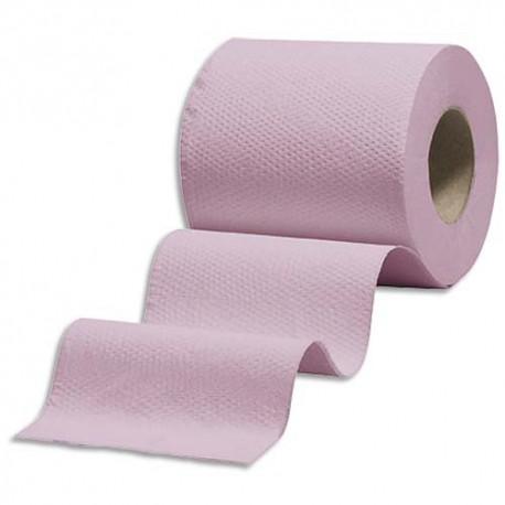 Hygiene Colis De 108 Rouleaux Papier Toilette Eco Rose Ouate 2 Plis