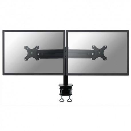 NEWSTAR Support écran plat noir à pince pour 2 écran plats plats jusqu'à 30'', 16Kg max FPMA-D700D