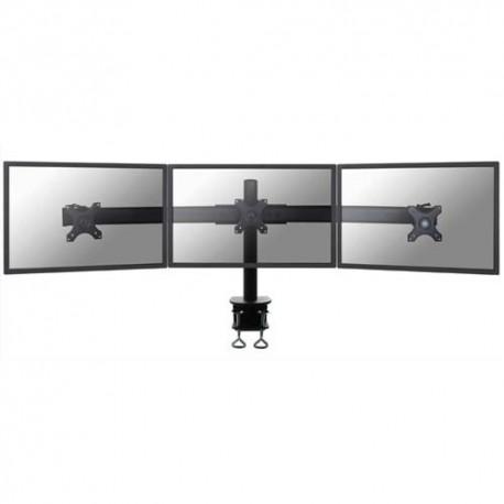 NEWSTAR Support écran plat noir à pince pour 3 écran plats plats jusqu'à 27'', 24Kg max FPMA-D700D3