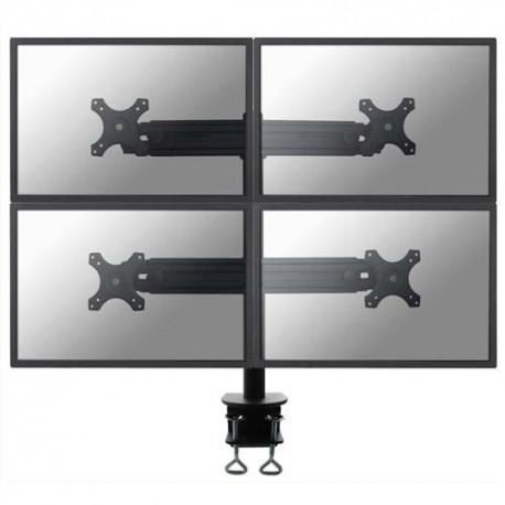 NEWSTAR Support écran plat noir à pince pour 4 écran plats plats de 19-30'', 32Kg max FPMA-D700D4
