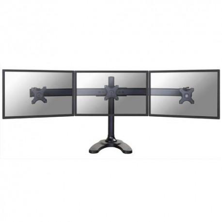 NEWSTAR Support écran plat noir pied à visser pour 3 écran plats plats de 10-27'', 24Kg max FPMA-D700DD3