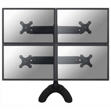 NEWSTAR Support écran plat noir pied à visser pour 4 écran plats plats de 10-30'', 32Kg max FPMA-D700DD4