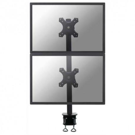 NEWSTAR Support écran plat noir pied à visser pour 4 écran plats plats de 10-27'', 12Kg max FPMA-D700DV