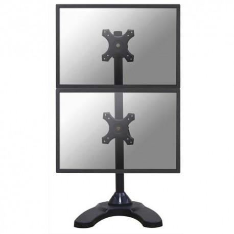 NEWSTAR Support écran plat noir à pince pour 4 écran plats plats de 19-27'', 12Kg max FPMA-D700DDV