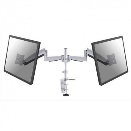 NEWSTAR Support écran plat gris à pince pour 2 écran plats plats jusqu'à 10-27'', 18Kg FPMA-D950D