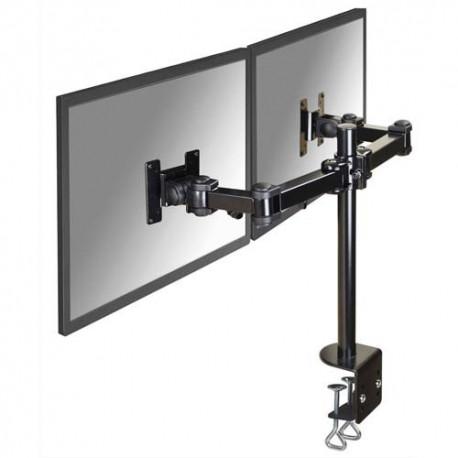 NEWSTAR Support écran plat noir à pince pour 2 écran plats plats jusqu'à 10-27'', 12Kg FPMA-D960D