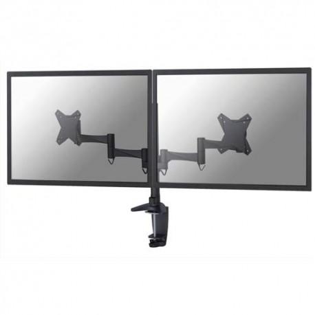 NEWSTAR Support écran plat noir à pince pour 2 écran plats plats jusqu'à 10-27'', 18Kg FPMA-D1330DBLACK