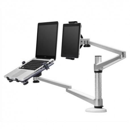 NEWSTAR Support/bras à pince pour ordi portable+tablette,réglage 15 à 40cm, jusqu'à 10-18'' NOTEBOOK-D300