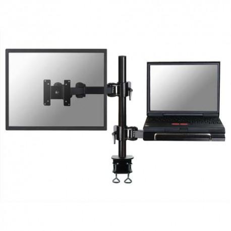 NEWSTAR Support/bras à pince pour 1 écran+ordi portable, jusqu'à 10-27'', 10kg max FPMAD960NOTEBOOK