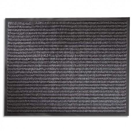 HYGIENE Tapis d'accueil d'intérieur standard semelle PVC - L90 x H60 cm, épaisseur 8 mm noir