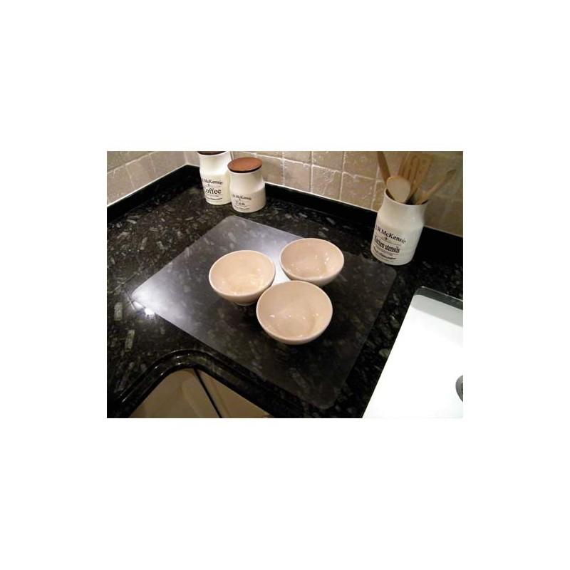 Hometex set de table rectangulaire transparent for Dimensions set de table