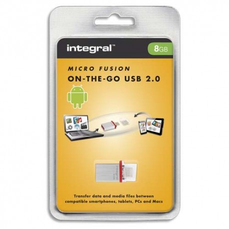 Clé USB 8Go 2.0/Micro USB OTG Micro Fusion Intégral