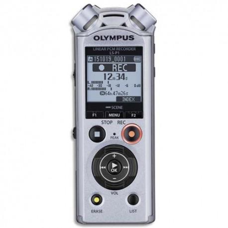 OLYMPUS Enregistreur numériqu pro LS-P1, 4Go,USB, MP3/PCM, fonctions musique, 3micro Tresmic V414141SE000