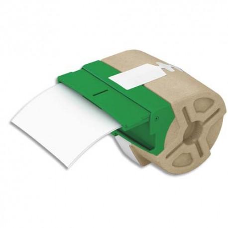LEITZ 70030001 - Cartouche ruban d'étiquettes continues en papier adhésif permanent 88mmx22m Blanc 70030001