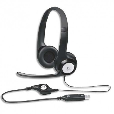 LOGITECH USB Headset, casque avec microphone H390981-000406