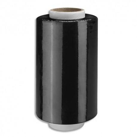 EMBALLAGE Pack de 12 Mini-bobines de film étirable noir - H12,5 cm x L150 mètres, 23 microns