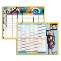 CBG Calendrier scolaire 16 mois août à septembre format 32 x 42 cm avec emploi du temps au verso