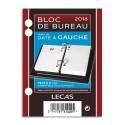LECAS Bloc éphéméride Date à gauche, 1 jour par page + note à Droite Format 8,5 x 11,5 cm