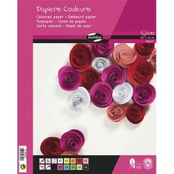 CLAIREFONTAINE Bloc de 30 feuilles de papier couleur 120g format A3 assorties
