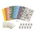 DECOPATCH Kit d'initiation 10 feuilles, 10 vernis 45g, 10 pinceaux et 10 modes d'emploi