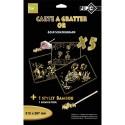 CREE UP Sachet de 5 cartes à gratter A4 or + 1 stylet en bambou