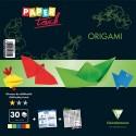 AVENUE MANDARINE Kit origami Initiation 30 feuilles assorties format 20x20cm + 1 planche gommettes yeux