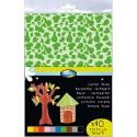 CLAIREFONTAINE Paquet de 40 feuilles carton décor 25x35cm 150g