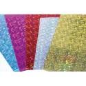 CLAIREFONTAINE Sachet de 10 feuilles de carton prismatic assortis format 50x35cm