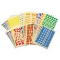 AGIPA Sachet de 48 planches de gommettes géométriques assorties